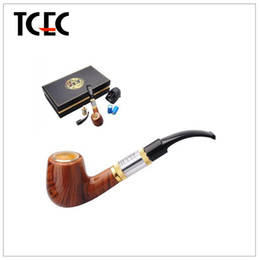 Wholesale E pipe kit wood vape pipes Health Smoking Pipe Electronic Cigarette E Pipe Imitate Solid Wood Design With Best Top grade Package Set