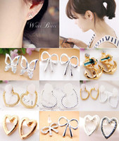 Wholesale New style fashion simple bow knot butterfly heart boat anchor earrings fashion earrings JE06202 JE06206 JE06209 JE06210 JE06213 M