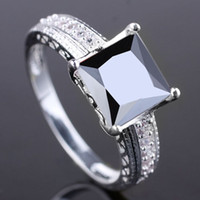 Wholesale Special Design Women Black Onyx Genuine Sterling Silver Ring R080