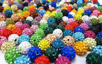 Wholesale mm mixed Micro Pave Crystal Shamballa Bead Bracelet Necklace Beads Hot spacer beads Rhinestone DIY spacer