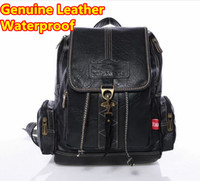Wholesale Famous Brand New Spring Genuine Leather Women Backpack Men Travel Bags Rucksack Black Brown Fashion Bags gt Backpack Style