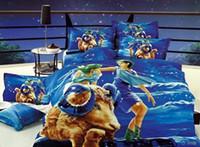 aries animal print - Galaxy bedding set quilt duvet cover doulbe sheets bed in a bag linen bedspread cotton queen size doona D Blue Aries bedclot