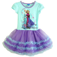 Wholesale Frozen Girl Clothes Lace Dresses Princess Dress Girl Dresses Kids Summer Dress Children Dresses Child Dress Fashion Dresses Kids Clothing