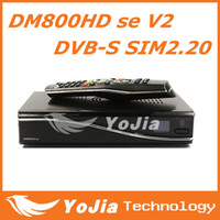 Wholesale 1pc DM800se V2 HD Satellite TV Receiver DM800HD se V2 with SIM2 GB Flash MB RAM HbbTV and Web browser Europe Fedex