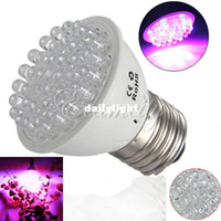 Wholesale 2pcs E27 RED and BLUE LEDs Hydroponic green house flower garden Light LED Plant Grow Growth Light Bulb Lamp