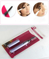 Wholesale Hot New Portable Electric Heated Eyelash Curler Eye Lashes Mini Pen Make Up Tools onetouch K07955
