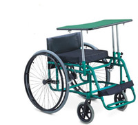 Wholesale Aluminum frame shooting leisure and sports wheelchair manual rear wheel comfortable cushion and back rest