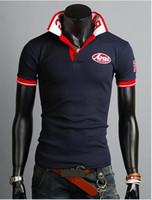 Men Cotton Polo 2014 new fashion men's slim cotton embroidery short sleeve T-shirt 2 color 685
