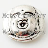 Other Unisex Alloy 641781 wholesale noosa metal Chinese style Happy Buddha chunk fashion jewelry for women leather bracelet