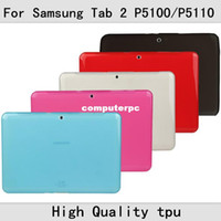 Wholesale Anti slip case for samsung tab For Samsung Galaxy Tab GT P5100 P5110 Soft Case Silicone Cover Stylus in stock