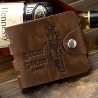Wholesale Man s genuine leather Cowboy men pockets card clutch wallet Brand new leather purse wallets for men