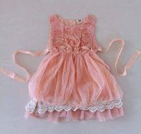 Wholesale sleeveless lace Hollow crochet princess dress baby ball gowns angel dress kids dresses girls slip dresses