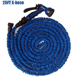 Wholesale 25FT Garden watering amp irrigation Hose water pipes without spray gun expandable flexible hose Garden hose amp reels EU US type