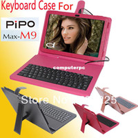 7'' For Apple For Ipad 2/3 Russian Leather keyboard Case for Pipo m9 original leather case for 10.1 inch Pipo M9 3G tablet pc free shipment