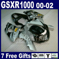 Wholesale Motorcycle bodywork for SUZUKI GSXR K2 black silver plastic fairing kit GSXR1000 GSX R1000 with gifts DS5