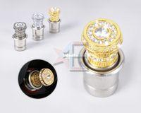 Wholesale amp Tracking V Crystal Rhinestones Car Power Plug Socket Output mm Cigarette Lighter Ignition CA01398