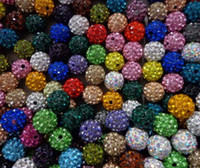 Wholesale hotsale mm mixed multi color Crystal Shamballa Bead Bracelet Necklace Beads Hot spacer beads Rhinestone DIY spacer