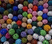 hotsale de 10mm 300pcs/lote mixto de varios colores de Cristal de Shamballa Pulsera de bolitas del Collar de Perlas.Caliente el espaciador de perlas de Mucho!Diamantes de imitación de BRICOLAJE espaciador