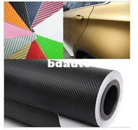127X30CM 3D autocollant vinyle de fibre de carbone film / fibre de carbone (50X11.8) - l'option 13 de couleur autocollant de voiture LivraisonGRATUITE pellicule de carbone 3D