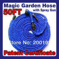 Wholesale PATENT CERTIFICATE Working lenght Meters Plastic Connector FT Blue Garden Water Hose Spray Gun USA
