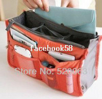 Wholesale 12Colors Promotions Lady s organizer bag handbag organizer travel bag organizer insert with pockets storage bags