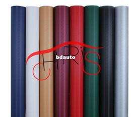 Wholesale Freeshipping D cm x127cm Auto Carbon Fibr sticker Vinyl Sheet Carbon Fiber Paper Wrap Roll Sticker for Auto Vehic3D