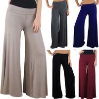 Cheap Hot Sale New 2014 Brand Casual Women Pants Loose Women's Zigzag Palazzo Wide Leg Pants 5 Colors