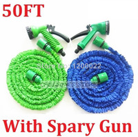 Garden Hose Reels Yes 1/2'' New 2014 Flexible 50ft Hose Garden Expandable Stretch Retractable Watering Magic 50FT Hose for Irrigation With Spary Gun