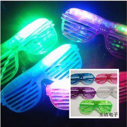 Wholesale 12PCS Fashion Luminous LED Shutters Glasses Dance Party Decoration Nightclubs Sandy beach Summer Glasses for Men and Wonmen