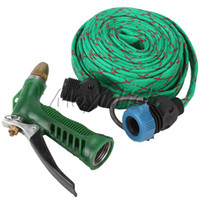 Garden Hose Reels Water Hose Nylon + PVC Car Garden Washing Water Pipe Gun Cleaner Copper Nozzle Adjustable Pressure Moyinltd