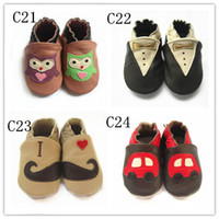 Wholesale 2016 high quality COW leather prewalkers Baby leather shoes First walker shoes Toddler leather shoe many designs