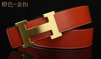 Wholesale GOOD agio han edition leather belt man Pure tide female fashion leisure belt cowhide joker smooth buckle belts