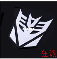 Stickers aluminum roofing - car styling Stereoscopic Aluminum the Transformers car stickers car styling without retail packaging ACT34