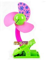 Wholesale Mini Portable clip Soundless battery Cooling Fan Desk Stand Fan cartoon mini fan with LED light multi colors