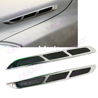 auto side vents - Auto decorative Side Hood Scoop Cover Gas Station Sign Car Air Flow Vent Fender Decor Sticker
