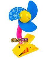 Wholesale retail Mini Portable clip Soundless battery Cooling Fan Desk Stand Fan cartoon mini fan with LED light multi colors