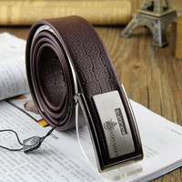 Wholesale 10pcs lotSpot trade leather men s business casual Korean Fashion plate buckle leather belt Plaid