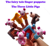 Wholesale The Fairy Tale The Three Little Pigs Children Toys Finger Puppet Christmas Gift set Z06
