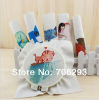 Wholesale Hand dyed Assorted Cotton Linen Printed Quilt Fabric For DIY Sewing Patchwork Home Textile Decor x20cm Cute AnimalFor DIY