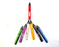 Wholesale 7 Colors Click N Vape smoking pipe Mini Herbal Vaporizer Trouch Flame Lighter weed with built in Wind Proof Torch Lighters Hookah