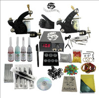 Wholesale USA storage Beginner cheap tattoo starter kits guns machines ink sets equipment needles grips tubes power DHgate DHGD