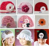 achat en gros de filles crochet chapeaux à vendre-Vente chaude! Beanies / casquettes / chapeaux faits main de crochet de bébé, beanies de fille de garçon, chapeau de chapeau de tricotage pour des enfants / nourrissons / enfant en bas âge / enfants, option de nombreux styes