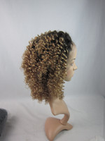 Cheap two tone #1b/27 curly lace wig Best Curly Indian hair Hair wig