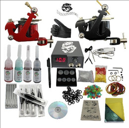 Wholesale Hot sell Tattoo Kit Machine Guns Power Supply InkS Pigment Complete set Tools