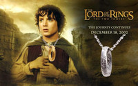 Wholesale Lord of the Rings The One Ring Necklace Silver Gold Color Mix High Quality B8