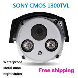 Hot selling sony 1300TVL Color outdoor security CMOS camera waterproof CCTV Camera beautiful two array IR camera with IR-CUT