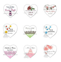 Accept Yes 50PCS Wholesale - 50PCS LOT 2.2CM Diameter Heart-shaped Candy Personalized Favor Waterproof Wrappers Seal Label Sticker Favor Box Bag Tags Label