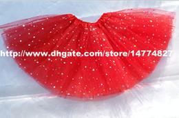 red baby girls sparkly star tutu skirt glitter skirts chilldren dance party pettiskirt tutus cheap tutus