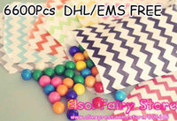 April Fool's Day 100% new In-Stock Items Wholesale - Colorful Chevron Striped Dots Favor Bags, Bitty bag, Birthday Party Bag, Gift bag 13x18cm 55 Patterns 6600pcs lot Free shipping