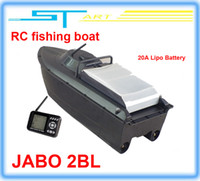 Wholesale 2014 Newest JABO BL Remote Control Bait Boat Fish Finder upgade JABO BS A Lipo Battery Newest Eiditon Jabo RC fishing boat